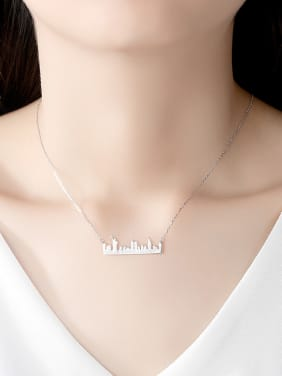 925 Sterling Silver With Smooth  Personality Irregular Necklaces