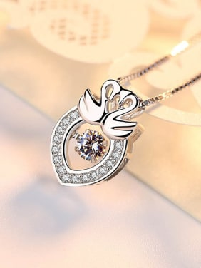 Korean Style Noble Wings Silver Pendant