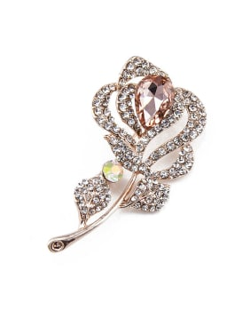 2018 Women Flower Crystals Brooch