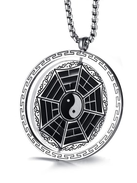 Religion Style Geometric Shaped Stainless Steel Pendant