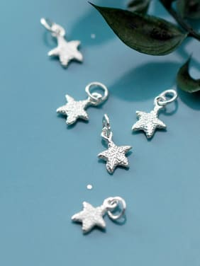 925 Sterling Silver With Platinum Plated Personality Sea Star Charms