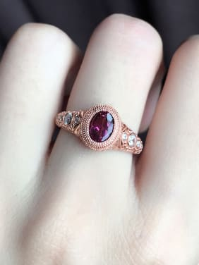 Retro Ruby Gemstone Statement Ring