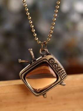 Vintage Women Television Shaped Necklace