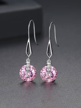 Copper inlaid AAA cubic zirconia class round drop earrings