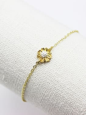 Lovely 16K Gold Plated Flower Shaped Bracelet