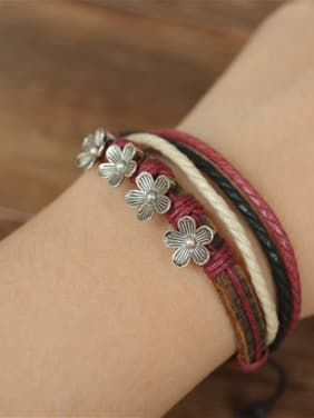 Multi-layer Flower Shaped Women Bracelet