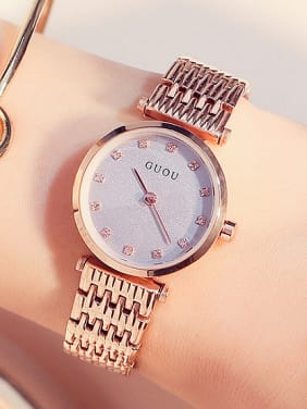 GUOU Brand Classical Numberless Watch
