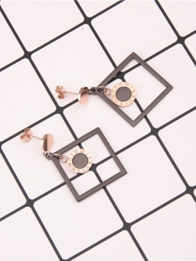Temperament Square Fashion Drop Earrings