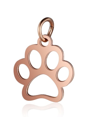 Stainless Steel With Gold Plated Fashion Dog Charms