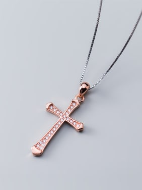 925 Sterling Silver With Cubic Zirconia Fashion Cross Pendants