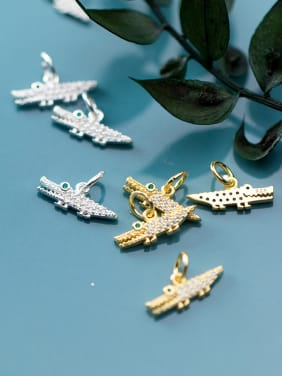 925 Sterling Silver With Cubic Zirconia  Delicate Animal Crocodile Pendants