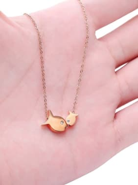 Kiss Fishes Pendant Women Necklace