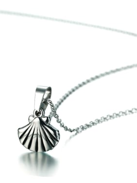 Temperament Shell Shaped Silver Plated Stainless Steel Necklace