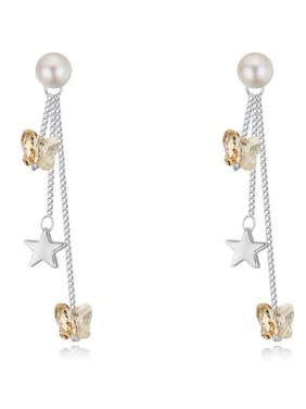 Fashion Butterfly Swarovski Crystals Star Alloy Drop Earrings