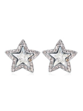 Fashion Star Swarovski Crystals Alloy Stud Earrings