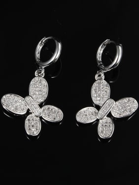 All-match Butterfly Shaped 18K Platinum Plated Drop Earrings