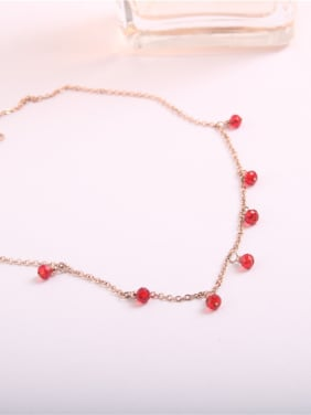 Korean Fashion Ruby Clavicle Necklace