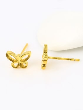 Tiny Butterfly Gold Plated Stud Earrings