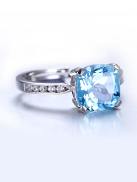 Simple Topaz Gemstone Engagement Ring