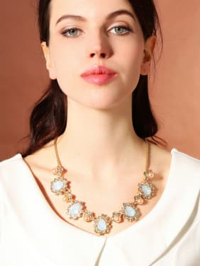 Temperament All-match Artificial Stones Noble Necklace