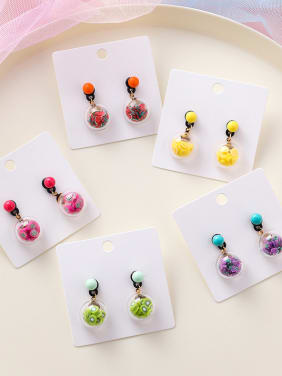 Alloy With  Acrylic  Fashion Hemisphere Friut Drop Earrings