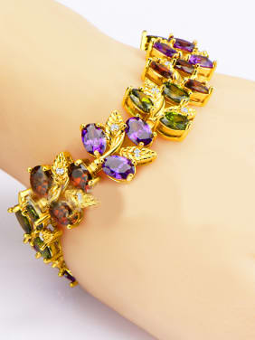 Fashion Leaves shaped Zircon Bracelet