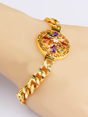 Fashion Hollow Round Zircon Bracelet