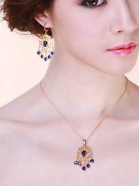 Retro style Zircon Two Pieces Jewelry Set
