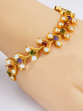 Fashion Multicolor Zircon Heart shapes Bracelet