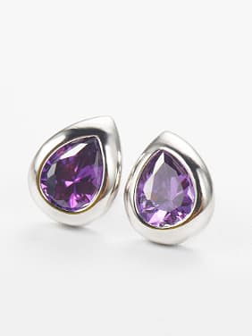 Water Drop Zircon Stud Earrings