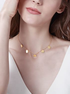 Copper With 18k Gold Plated Trendy Star round Necklaces