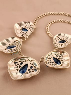 Exaggerate Geometric Stones Women Necklace