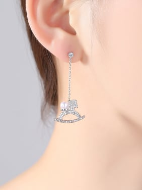 AAA zircon carousel earrings