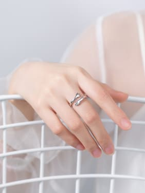 925 Sterling Silver With Glossy   Simple little hand Free Size  Rings
