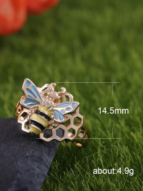 Copper With Gold Plated Exaggerated Insect Band Rings