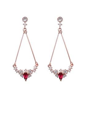 Alloy With Rose Gold Plated Simplistic Water Drop Drop Earrings