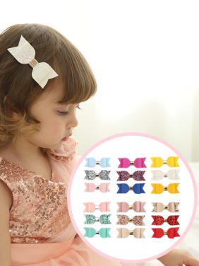 Children's hair accessories: butterfly knot lychee stripe 3 pieces