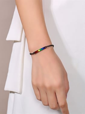 Stainless Steel With Gun Plated Simplistic Geometric Bracelets
