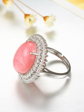 Exaggerated Opal Gemstone Zircon Statement Ring