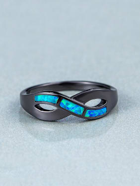 Black Opal Stone Statement Ring