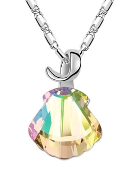 Simple Shell-shaped Swarovski Crystal Alloy Necklace