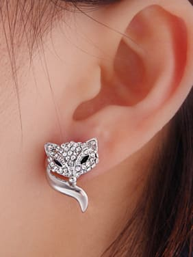 Stainless Steel With Fashion Animal Stud Earrings
