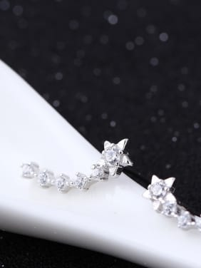 Star Winter Style Zircon Stud Earrings