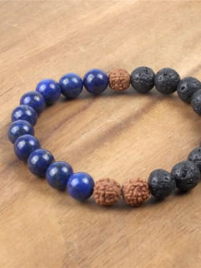 Blue and Black Stones Luck Bracelet