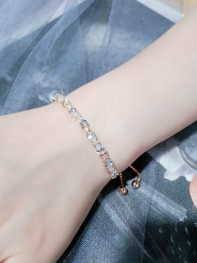 Copper With Cubic Zirconia  Fashion Water Drop Bracelets