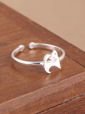 Simple Little Puppy Opening Midi Ring