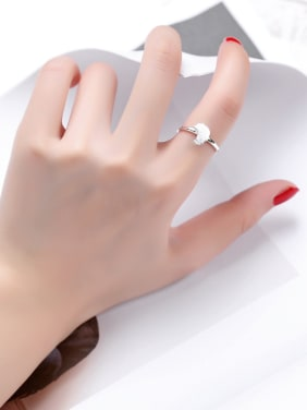 Fashion Little Chick Silver Midi Ring