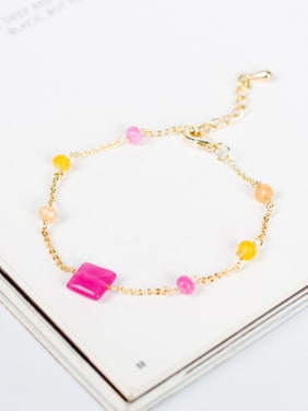Fresh Multi-color Natural Stone Women Bracelet