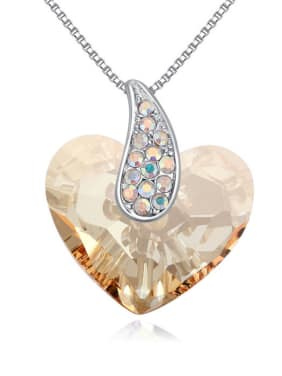 Simple Heart Swarovski Crystal Alloy Necklace