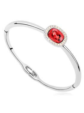 Simple Swarovski Crystals Alloy Bangle